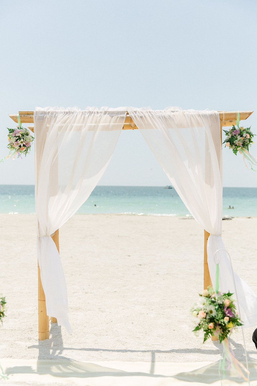 Clearwater Beach Waterfront Wedding Altar | Ailyn La Torre Photography