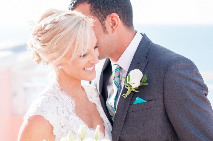 Bride and Groom Wedding Portrait | Clearwater Beach Wedding Photographer Caroline and Evan Photography