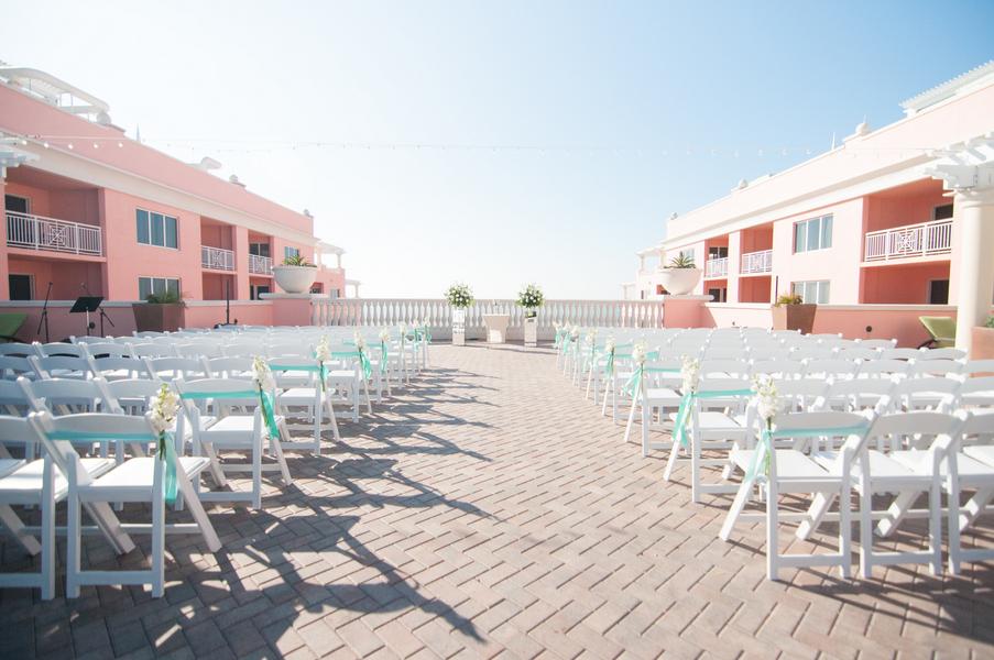 Clearwater Beach, Outdoor Rooftop Wedding Ceremony at Wedding Venue Hyatt Clearwater Beach