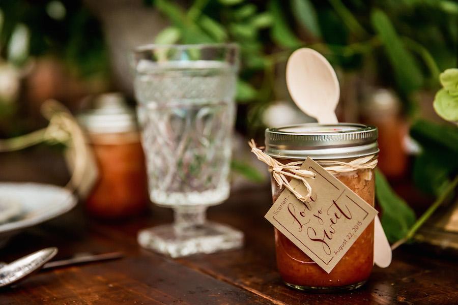 Little Tipsy Cakes Wedding Favors | Bourbon Cake in Mason Jars