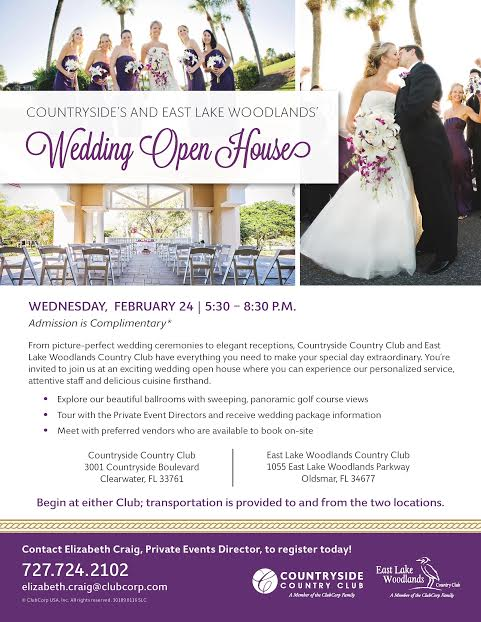 Clearwater Country Club Wedding Open House Event In Tampa Bay