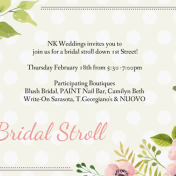 Sarasota Bridal Stroll | 1st Street Sarasota Tampa Bay Wedding Planning Event