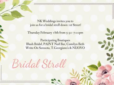 Sarasota Bridal Stroll | 1st Street Sarasota Tampa Bay Wedding Planning Event