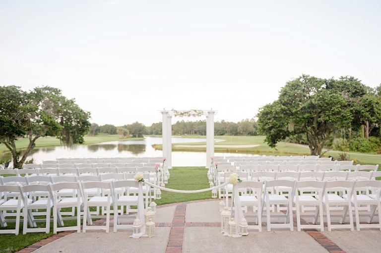 Tampa Bay Outdoor Country Club Wedding Venue at Hunters Green Country Club