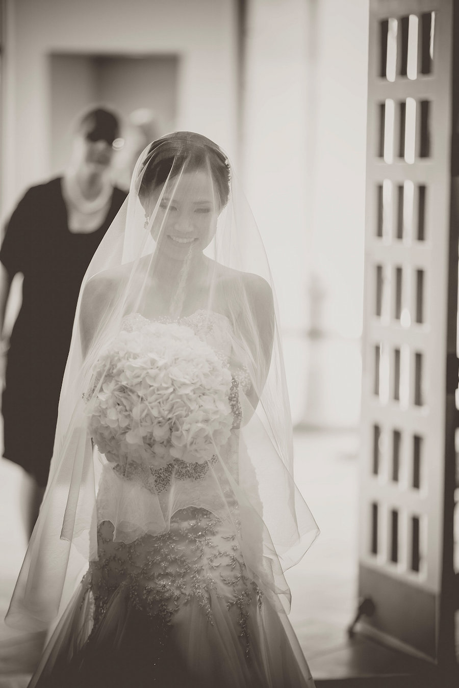 Portrait of Bride Walking Down Aisle Wedding Ceremony | Photo by Tampa Bay Wedding Photographer Kristen Marie Photography