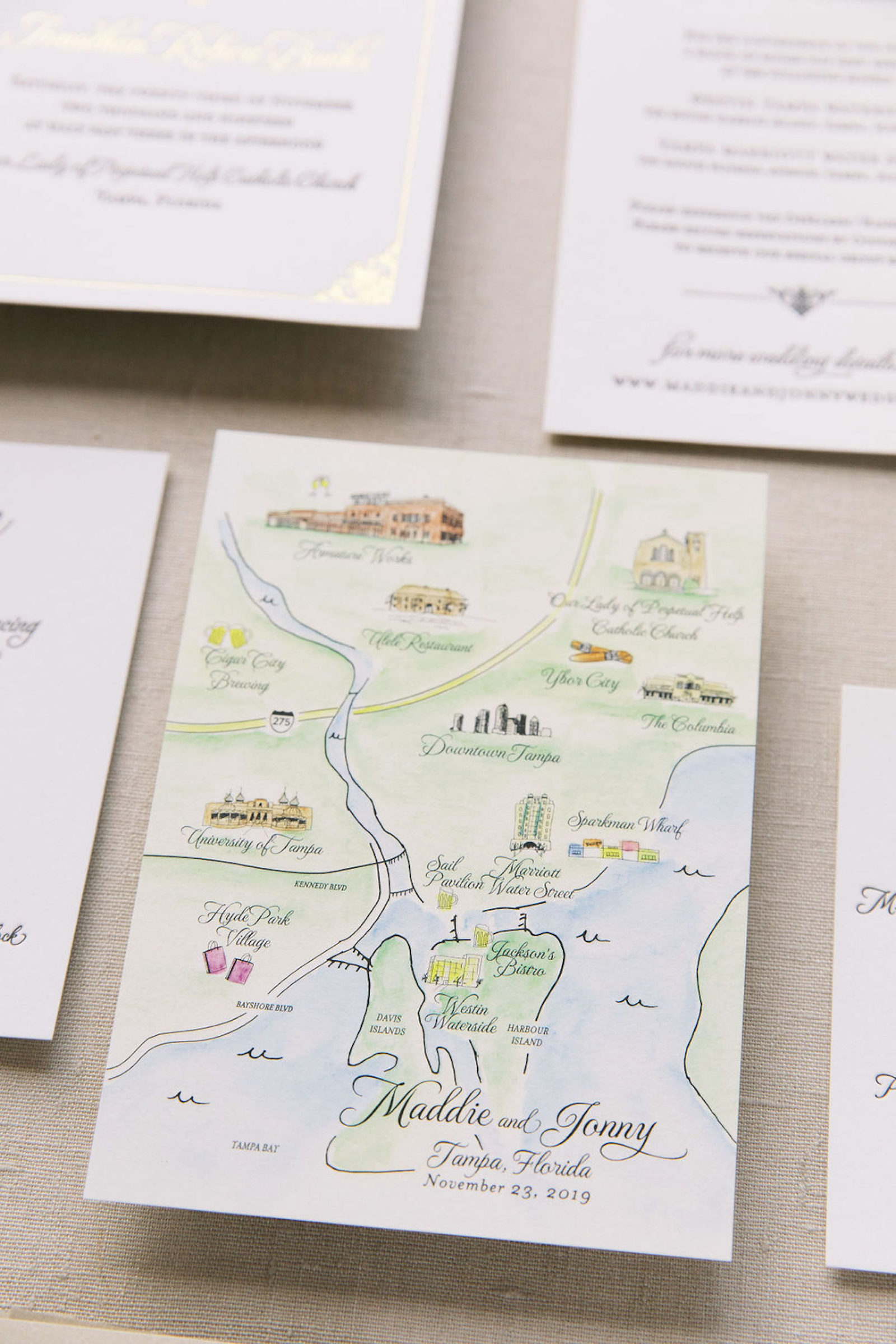 Tampa Bay Custom Wedding Invitations and Stationery | AP Design Co | A&P Designs | A+P Design Co