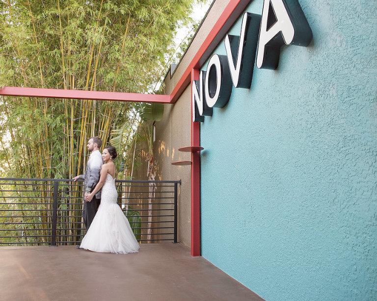 Downtown St. Pete Wedding Venue NOVA 535| Bride and Groom Wedding Portrait | Photo by Tampa Bay Wedding Photographer Kristen Marie Photography