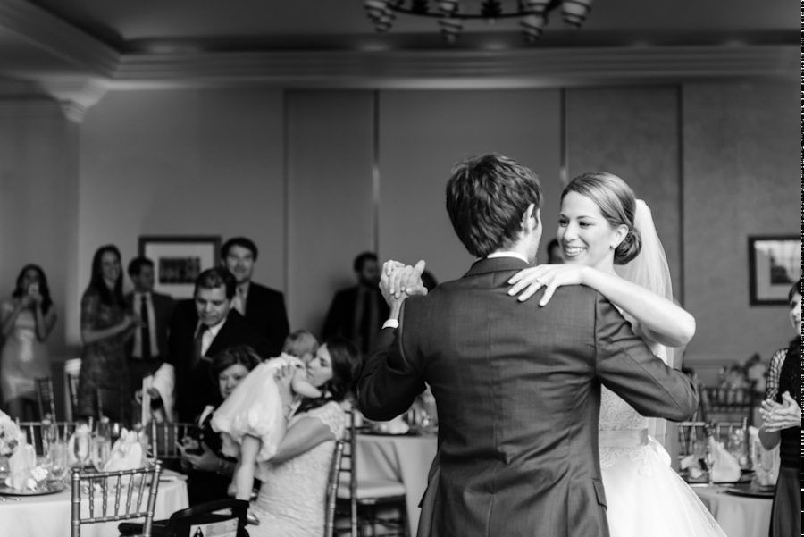Bride and Groom First Dance at Tampa Wedding Marriott Waterside