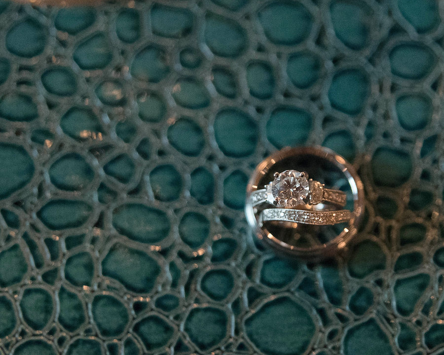 Wedding and Engagement Ring and Wedding Band | Photo by Tampa Bay Wedding Photographer Kristen Marie Photography