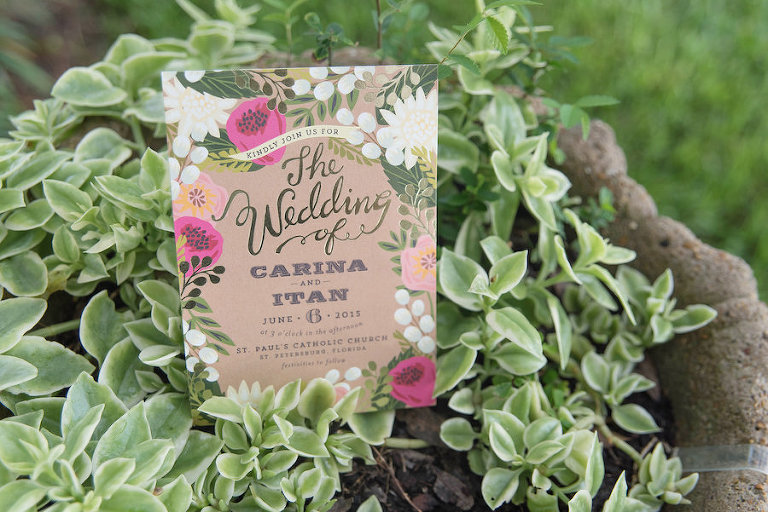 Floral, Graden Themed Wedding Invitation Stationary | St. Petersburg Wedding Photographer Kristen Marie Photography