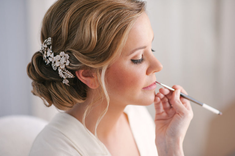 Wedding Day Makeup | Bride Getting Ready on Wedding Day | Elegant Bridal Up-Do