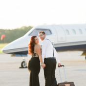 Tampa Bay Airport-Airplane Engagement Session | Tampa Bay Wedding Photographer Ailyn La Torre Photography