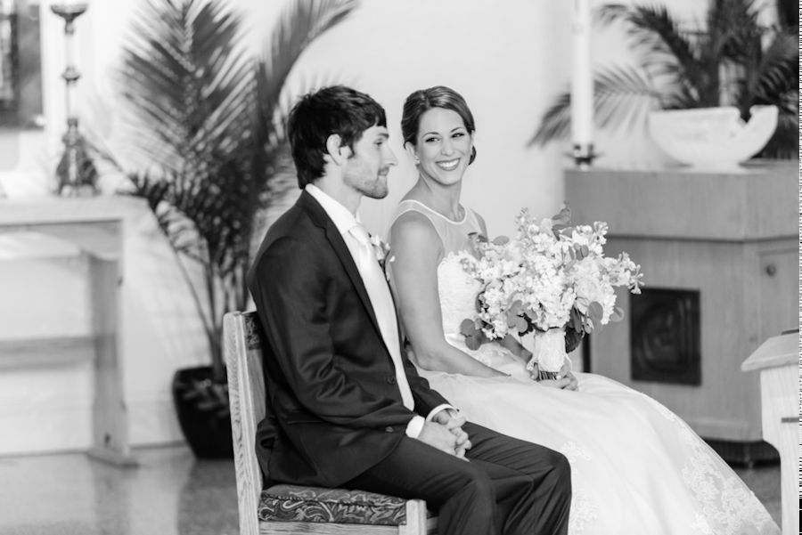 Bride and Groom Portriat at Tampa Wedding Ceremony