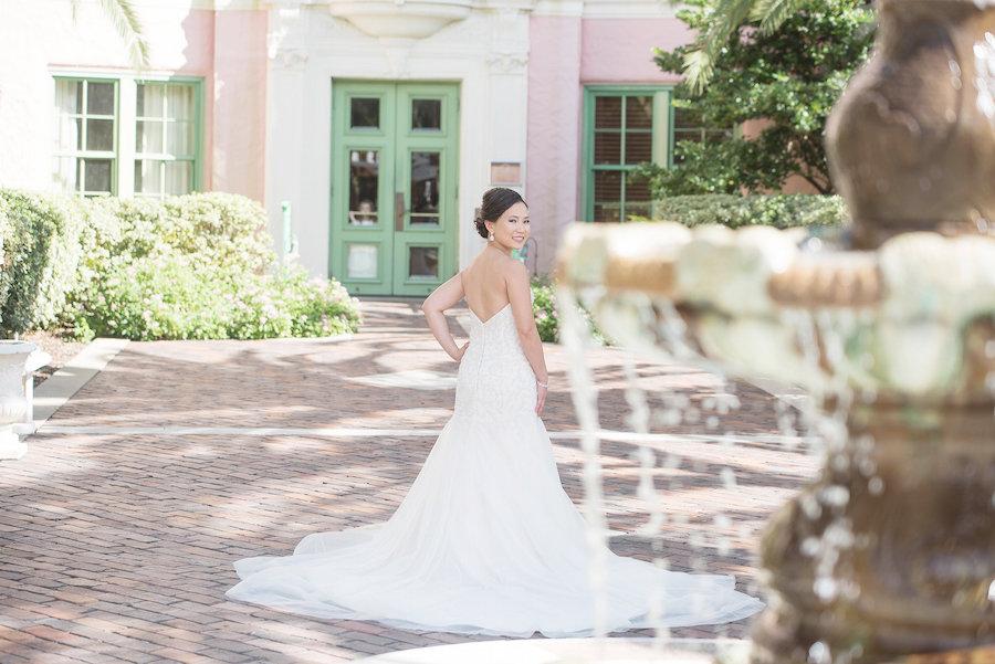 Bridal Portrait in Strapless Essense of Australia Wedding Gown| Photo by Tampa Bay Wedding Photographer Kristen Marie Photography