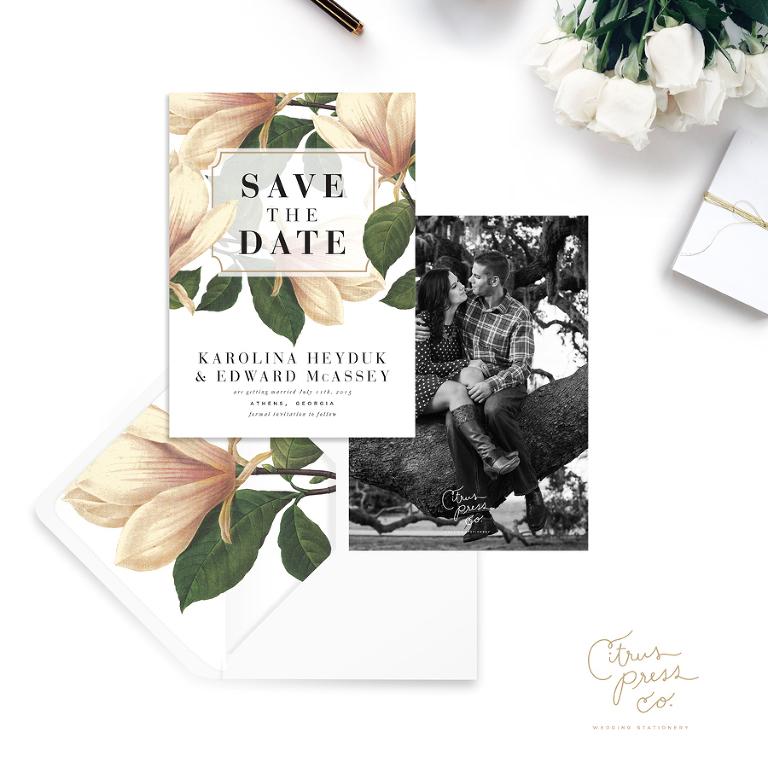Wedding Stationery Save the Dates | Citrus Press Co. Wedding Invitations