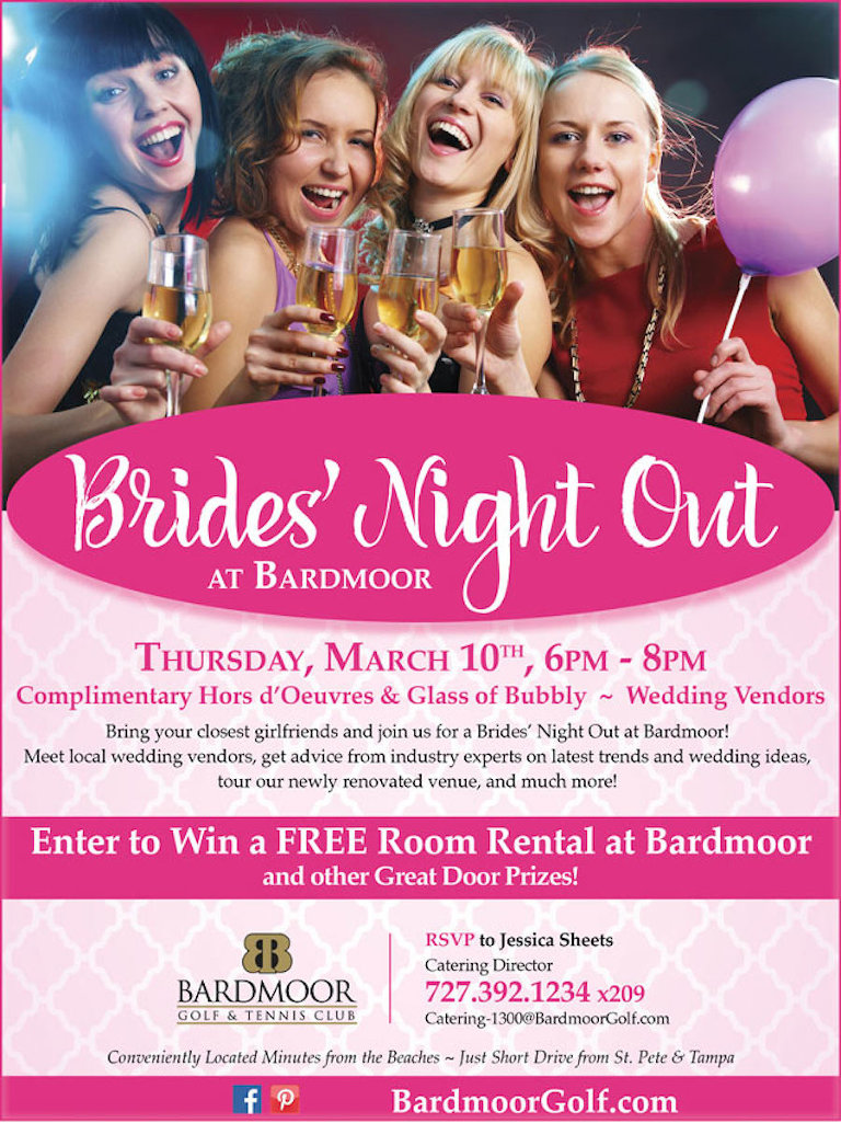 Tampa Bay Bridal Show | Brides Night Out at Bardmoor Golf and Tennis Club in Seminole, Florida | March 10, 2016