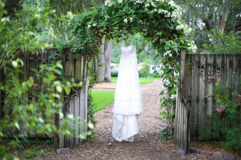 Ivory, Lace Strapless Wedding Gown