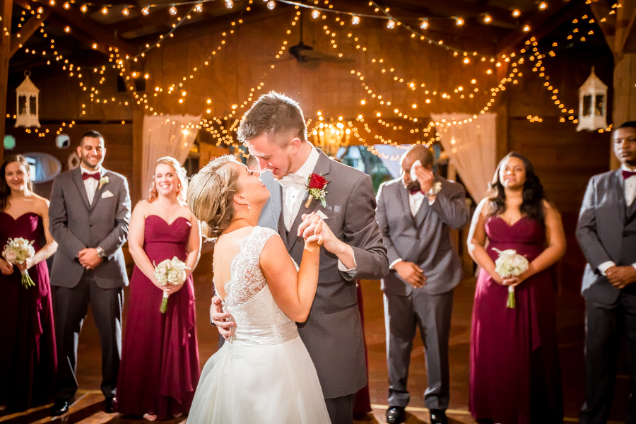 Wedding Reception Bride and Groom First Dance by Tampa Wedding Photographer Rad Red Creative