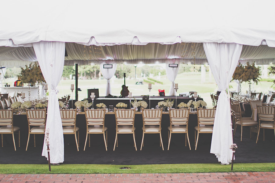 Wedding Reception in Outdoor Tent at Sarasota Wedding Venue the Oaks Club   Sarasota Wedding Planner NK Productions