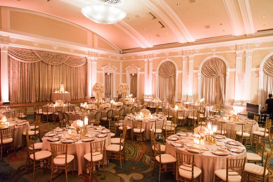 Ivory And Gold Ballroom Wedding Reception St Petersburg Wedding