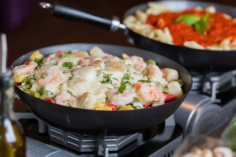 Shrimp Pasta Wedding Dinner Meal| Tampa Bay Wedding & Event Caterer Olympia Catering & Events