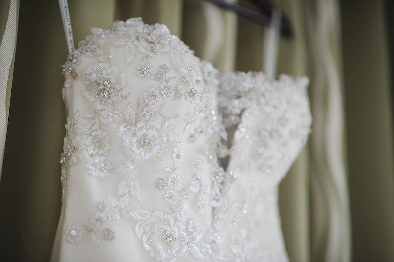 Strapless Sweetheart Style Rhinstone Encrusted Boddice Wedding Dress | Tampa Wedding Photographer Marc Edwards Photographs