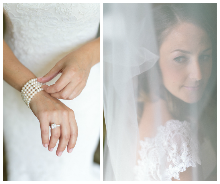 Getting Ready: Bridal Wedding Day Portrait, Pearl Bracelet Jewlery | Saint Petersburg Wedding Photographer Roohi Photography