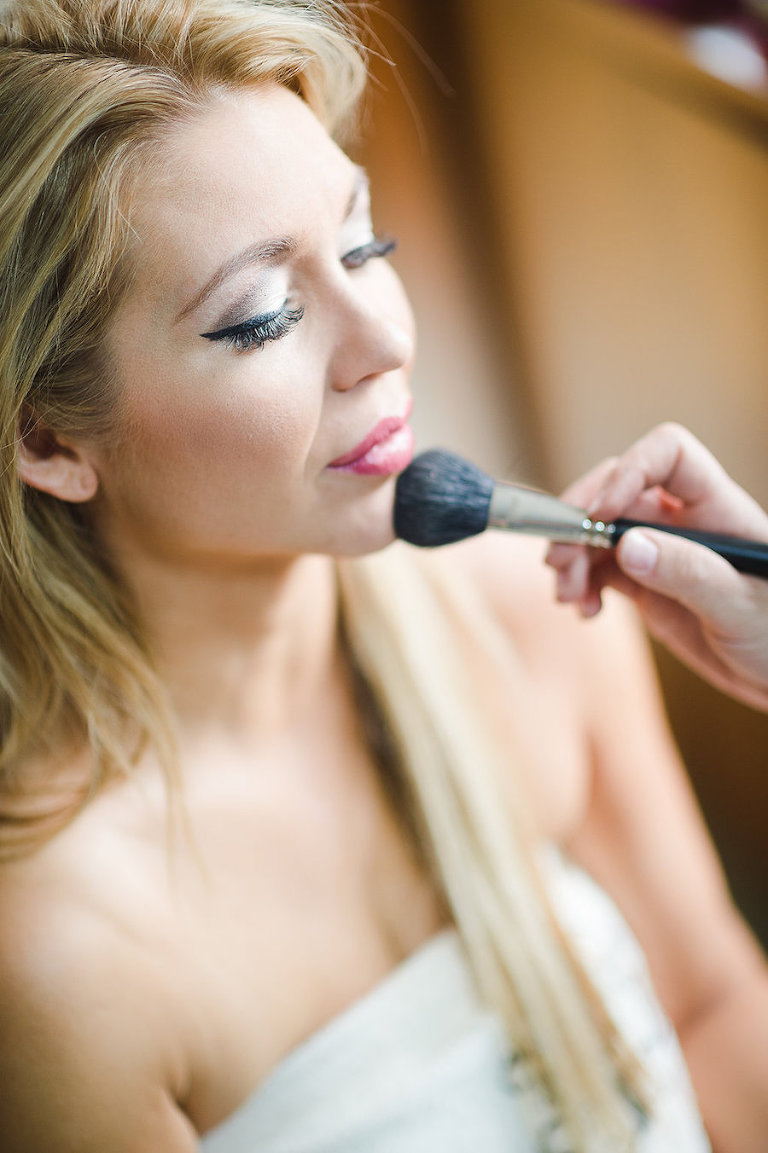 Getting Ready: Bridal Makeup on Wedding Day | Tampa Wedding Photographer Marc Edwards Photographs