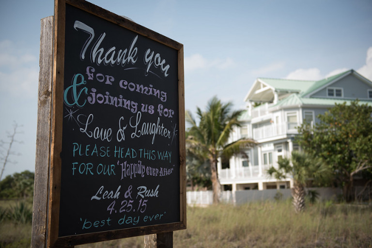 Clearwater, Beachfront Wedding Ceremony Welcome Sign