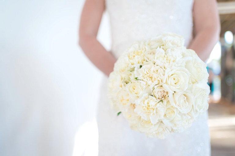 White Wedding Bridal Rose Bouquet