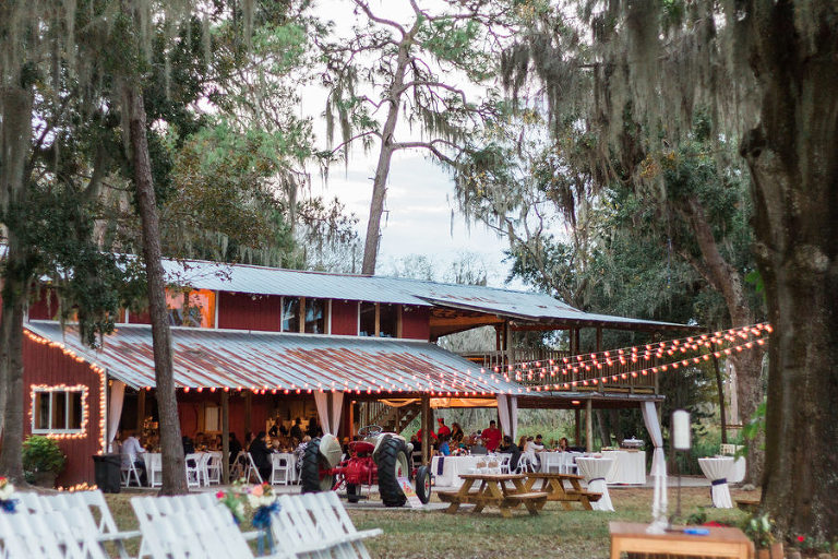 Outdoor Barn Wedding Reception | Tampa Bay Wedding Venue Old McMickey's Farm at The Barn at Crescent Lake
