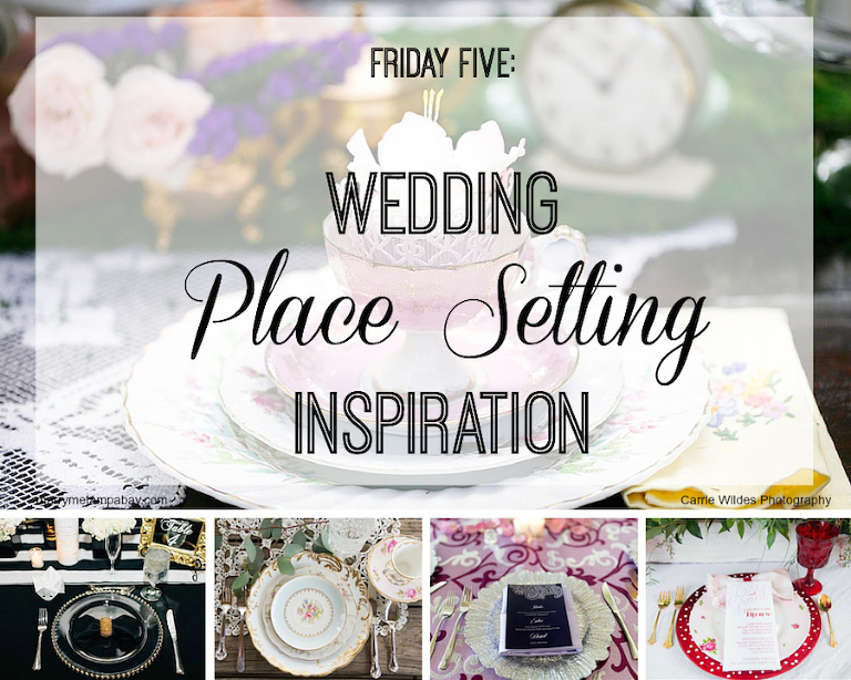 Wedding Place Setting Ideas and Inspiration with Rented China and Charger Plates and Table Linens