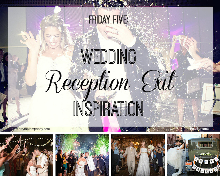 Friday Five, Wedding Exit Inspiration and Ideas