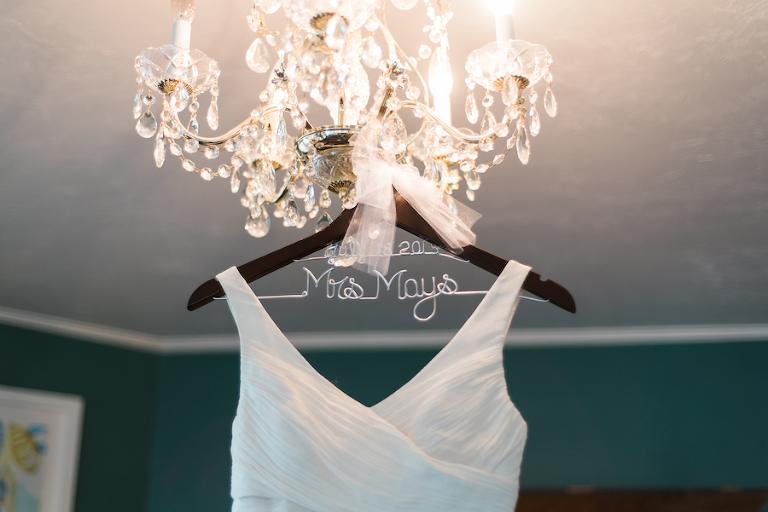Ivory, J.Crew Wedding Dress on Personalized Wedding Hanger