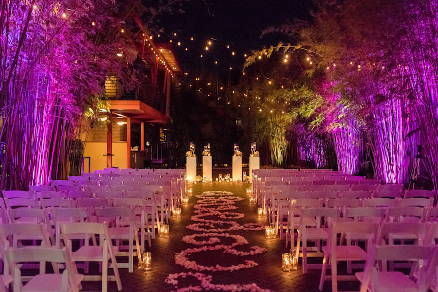 Romantic Gold Amp Pink Nighttime St Pete Nova 535 Wedding