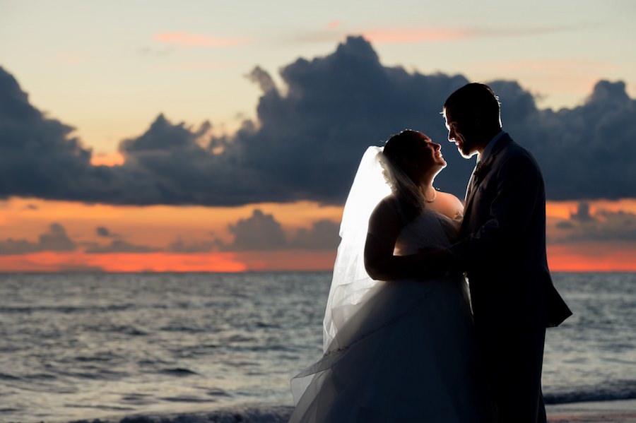 Florida Sunset Beach Wedding Portait   St. Pete Wedding Photographer Andi Diamond Photography