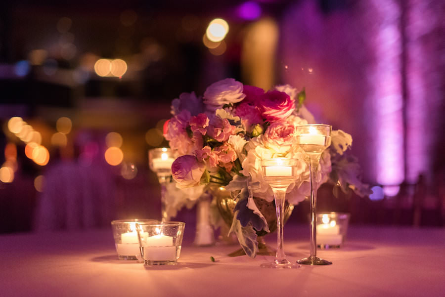 Modern Romantic Wedding Reception Table Decor With Pink And White