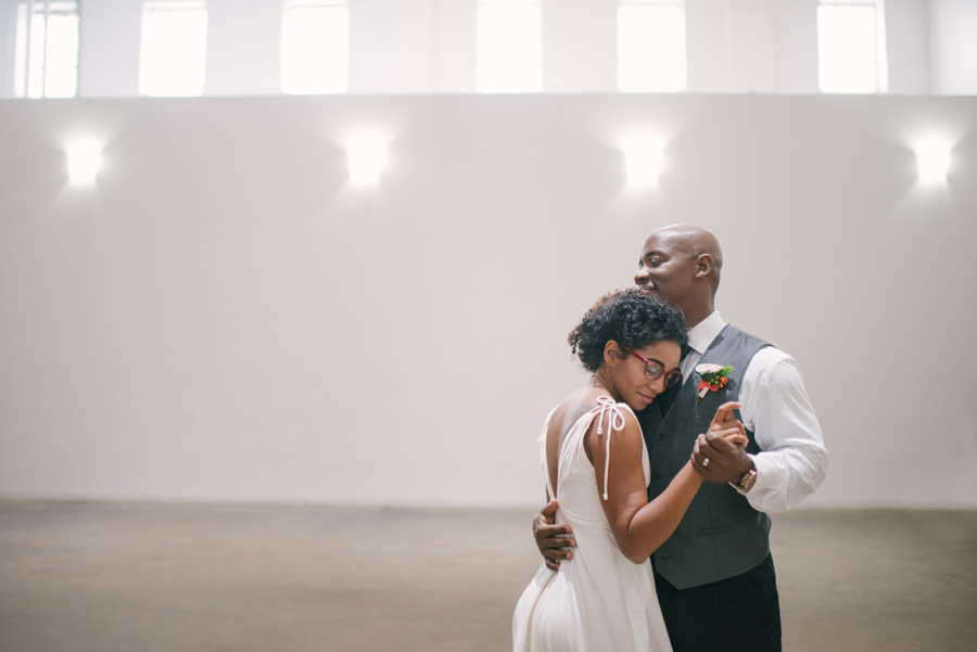 Bride and Groom Caribbean Inspired Wedding Portrait First Dance | Tampa Wedding Venue Rialto Theatre