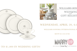 Williams Sonoma Wedding Registry Event, April 20, 2016 at International Plaza Mall in Tampa