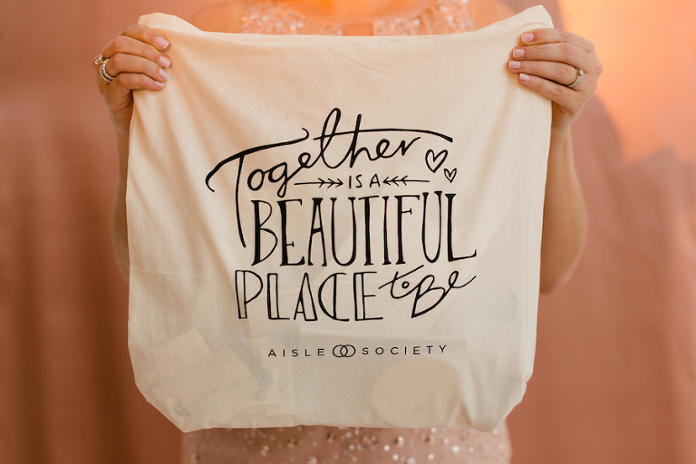 Inspirational Quote Bag | Aisle Society NYC Bridal Market Launch Party