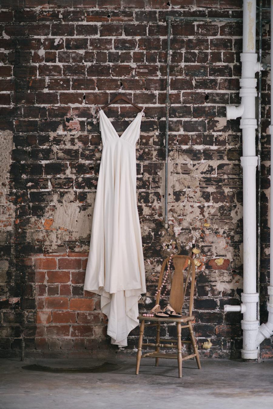 Simple, Sheath Ivory Wedding Dress