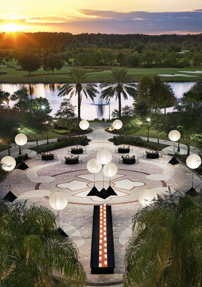 Outdoor Waterfront Orlando Wedding Venue: JW Marriott Grande Lakes Valencia Terrace