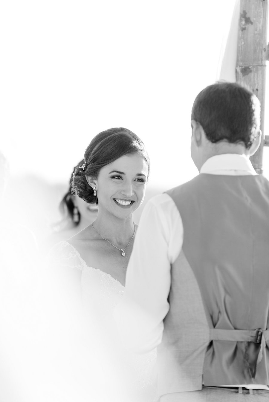 Bridal Wedding Day Portrait during Wedding Ceremony Vows   Clearwater Wedding Photographer Caroline and Evan Photography