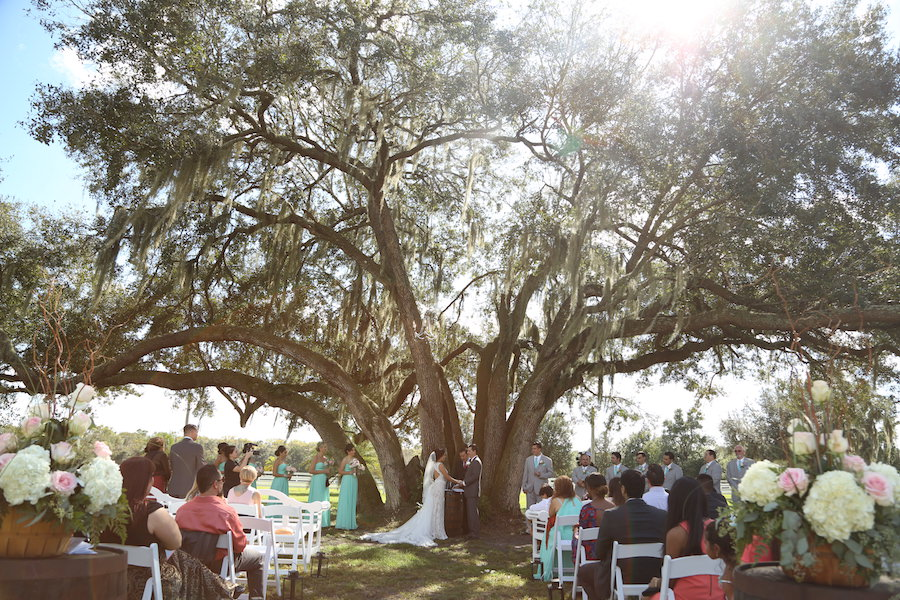 Florida Bride And Groom Outdoor, Rustic Wedding Ceremony At Lakeland Wedding  Venue Rocking H Ranch