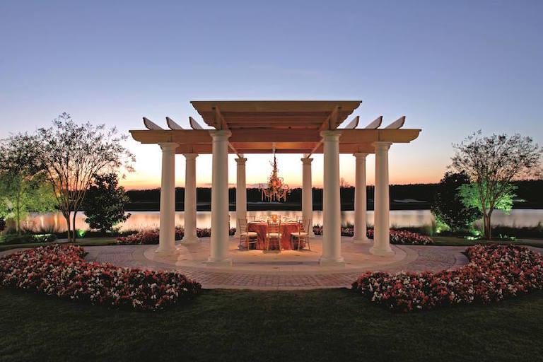 Outdoor Waterfront Orlando Wedding Venue: Ritz Carlton Grande Lakes Wedding Gazebo