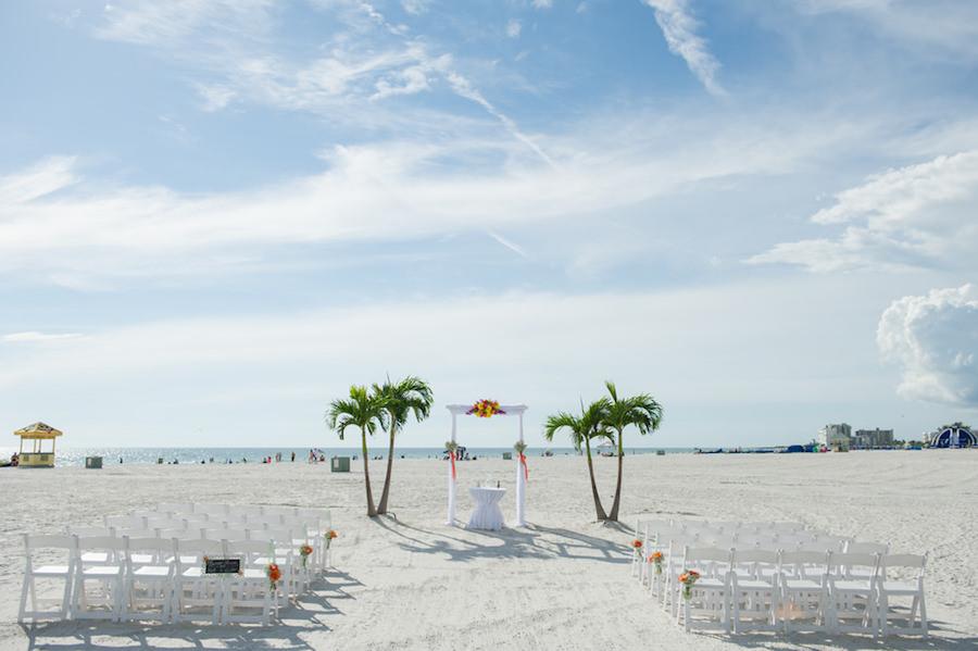 St. Pete Beach Wedding Venue the Grand Plaza Hotel  Destination Wedding Ceremony on the Beach   St. Pete Wedding Photographer Andi Diamond Photography
