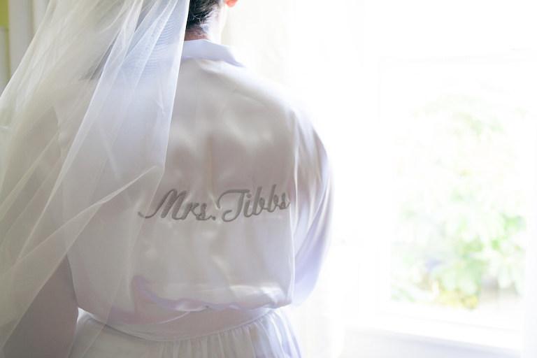 Getting Ready Details: Custom Mrs. Bridal Wedding Robe