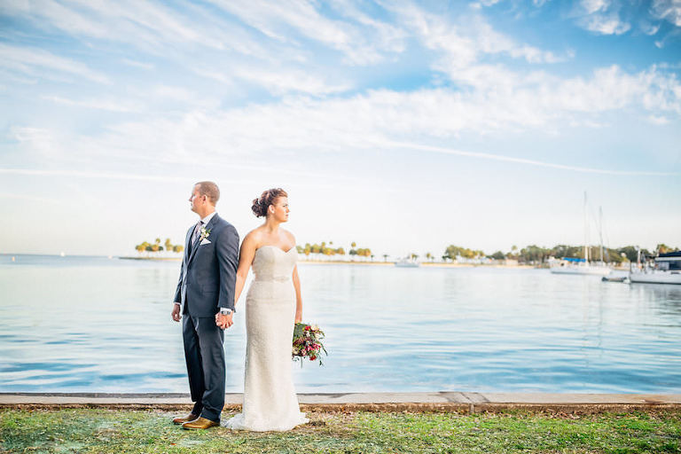 Bride and Groom Downtown St. Pete Wedding Portraits | St. Petersburg Wedding Photography Rad Red Creative