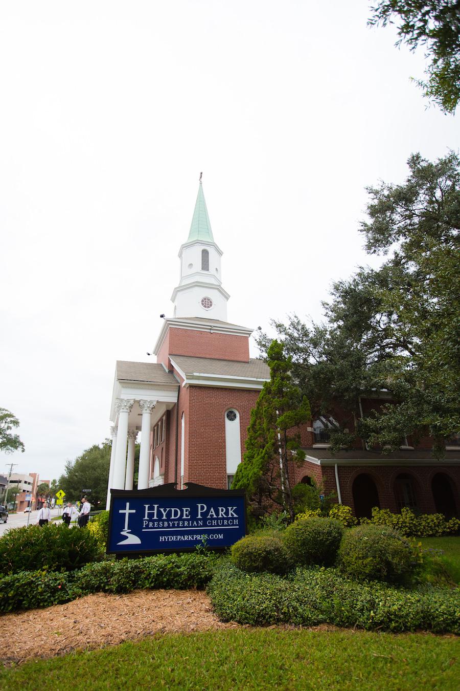 Tampa Wedding Ceremony Venue Hyde Park Presbyterian Church