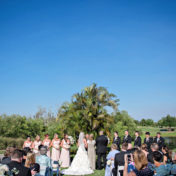Florida Outdoor Wedding Ceremony with Palm Trees | Sarasota Wedding Venue Lakewood Ranch Golf and Country Club